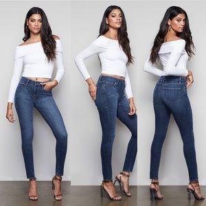 Good American Good Legs Crop Jeans 4 27 blue